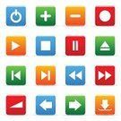 Next,Symbol,Play,Interface Icons,Red,The Way Forward,Information Medium,Orange Color,Sign,Green Color,Set,Stop,Internet,Pushing,Electrical Equipment,Control,Blue,White,Part Of,Vector,Part Of A Series,Electronics,Vector Icons,Technology,Illustrations And Vector Art,Ilustration,Computer,Modern,Isolated