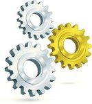 Gear,Industry,Three-dimensional Shape,Gold Colored,Gold,Teamwork,Silver - Metal,Silver Colored,Metal,Machine Part,Illustrations And Vector Art,Teamwork,Concepts And Ideas,Ideas,Concepts,Isolated