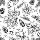 Square,Cut Out,Retro Styled,No People,Poinsettia,Pine Cone,Sketch,Holiday - Event,Old-fashioned,Wallpaper,Christmas,Engraved Image,Illustration,Ink,Classic,Symbol,Pinaceae,Fir Tree,Berry Fruit,Outline,Berry,Winter,Mistletoe,Seamless Pattern,Botany,Berry,Branch,Etching,Backgrounds,Holly,Pine Tree,Vector,Monoprint,Drawing - Art Product,Pattern,Black Color