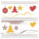 Square,Celebration,Banner,Heading the Ball,Gingerbread Cake,Holiday - Event,Placard,New Year's Eve,New Year's Day,Christmas,Illustration,Twig,Christmas Decoration,Banner - Sign,Christmas Cake,Decoration,New Year,Christmas Ornament,Vector,Beige,Gold Colored,Red,White Color,Yellow,Brown,White Background