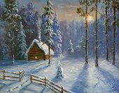 Christmas,Winter,Snow,Cabin,Landscape,House,Non-Urban Scene,Village,Night,Landscaped,Tree,Forest,Holiday,Cartoon,Paintings,Rural Scene,Sun,Woodland,White,Paint,Snowing,Illuminated,Wood - Material,Outdoors,Ice,Footpath,Nature,Art,Pine,Frost,No People,Dark,Season,Ilustration,Painted Image,Blue,Serene People,Horizontal,Image,Christmas,Winter,Arts And Entertainment,Visual Art,Holidays And Celebrations,Color Image,Spruce Tree,Nature,Frozen,Weather,Coniferous Tree,Snowdrift,Tranquil Scene,Pine Tree,Colors,Silence,Vacations,Cold - Termperature