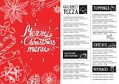 Horizontal,Retro Styled,Holiday - Event,Old-fashioned,Template,Christmas,Illustration,Restaurant,Cooking,Food,Brochure,Backgrounds,Flyer - Leaflet,Menu,Typescript,Vector,Party - Social Event