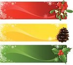 Christmas,Banner,Mistletoe,Holiday,Backgrounds,Holly,Ribbon,Computer Graphic,Computer Icon,Winter,Vector,Pine Cone,Snowflake,Clip Art,Bow,Yellow,Red,Bow,Berry,Snow,Celebration,Twig,Design,Blue,Ilustration,Set,Collection,Wave Pattern,Curve,Copy Space,Web Banner
