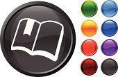 Book,Open,Symbol,Bookmark,Computer Graphic,Reading,Digitally Generated Image,Sparse,Ilustration,Education,Modern,open book,Blue,Green Color,Shiny,Empty,Orange Color,Black Color,Red,Design,White Background,Vector,Computer Icon,Purple