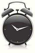Alarm Clock,Ticking,Computer Icon,Time,Vector Cartoons,Vector Icons,Illustrations And Vector Art,Black Color