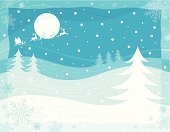 Christmas Card,Christmas,Santa Claus,Snow,Sleigh,Reindeer,Polar Climate,Tree,Silhouette,Backgrounds,Landscape,Winter,Banner,Backdrop,Vector,Animal,Snowflake,Computer Graphic,Placard,Night,Holiday,Celebration,Moon,Vacations,Design,Holiday Backgrounds,Christmas,Season,December,New Year's,Horizontal,Copy Space,Color Image,Holidays And Celebrations