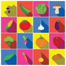 Square,No People,Raw Potato,Olive Tree,Carrot,Green Pea,Dieting,Bell Pepper,Radish,Garlic,Healthcare And Medicine,Vegetable,Corn,Illustration,Onion,Tomato,Eggplant,Food,Mushroom,Olive,Cucumber,Healthy Eating,Pumpkin