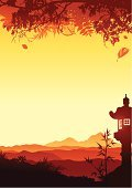 Japan,Japanese Culture,Landscape,Backgrounds,Bamboo,Mountain,Sunset,Tree,Vector,Autumn,Desert,Silhouette,Lantern,Forest,Banner,Scenics,Valley,Focus On Background,Night,Summer,Hill,Panoramic,Red,Siena,Vertical,Tranquil Scene,Plant,Horizon,Spirituality,Smoke - Physical Structure,Bush,Grass,Electric Lamp,Yellow,Brown,Twilight,Viewpoint,Nature,Orange Color,Beauty In Nature,Fog,Vector Backgrounds,Dusk,Illustrations And Vector Art,Leisure Activity,Vector Florals,Beautiful,Recreational Pursuit,Copy Space
