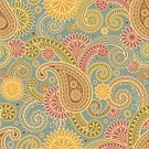 Pattern,Paisley,Seamless,Backgrounds,Floral Pattern,Retro Revival,Design,Textile,1940-1980 Retro-Styled Imagery,Vector,Old-fashioned,Leaf,East,Funky,Abstract,Decoration,Persian Culture,Fashion,Wallpaper Pattern,Swirl,Square,Beauty,Ilustration,Tracery,Decor,Wrapping Paper,Image,Spiral,No People,Vector Florals,Vector Ornaments,Illustrations And Vector Art,Full Frame,Vector Backgrounds