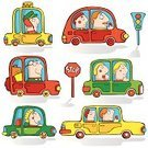 Car,Cartoon,Driver,Stoplight,Taxi,People,Cute,Drive,Vector,Driving,Ilustration,Passenger,Fun,Transportation,Land Vehicle,Sign,Men,Set,One Person,Mode of Transport,Art,Cheerful,Group of Objects,Cool,Color Image,Funky,Style,Bumper,People Traveling,Shadow,Isolated,imagery,taxi-driver,Isolated On White,Transportation,Illustrations And Vector Art,Headlight,Design,Isolated Objects,Vector Cartoons,Image,Vibrant Color,Wheel,Multi Colored