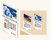 Calendar,Isometric,Wall,Office Interior,Indoors,Calendar Date,Household Objects/Equipment,Vector,Objects/Equipment