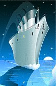 Rms Titanic,Passenger Ship,Iceberg - Ice Formation,Nautical Vessel,Vector,Sinking,Porthole,Ice,Night,Sea,Anchor,Accident,Water,Moon,Sky,Smoke Stack,Ilustration,Reflection,Arts Backgrounds,Cold - Termperature,Arts And Entertainment,Star - Space,Tranquil Scene,Death,Blue,Vertical,Danger