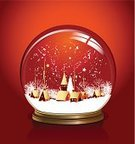Snow Globe,Christmas,Winter,Non-Urban Scene,Snow,House,Landscape,Town,Tree,Vector,Sphere,Toy,Star - Space,Rural Scene,Ilustration,Christmas Decoration,Glass - Material,Blizzard,Snowflake,Season,Star Shape,December,Christmas,Illustrations And Vector Art,Holidays And Celebrations