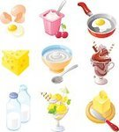 Yogurt,Dairy Product,Butter,Milk,Cheese,Milkshake,Cream,Frying Pan,Whipped Cream,Breakfast,Ice Cream,Glass,Chocolate,Bottle,Eggs,Lemon,Fried Egg,Cherry,Dairy Products,Mint Leaf - Culinary,Isolated Objects,Isolated-Background Objects,Food And Drink,Illustrations And Vector Art,Teaspoon,Meal,Vector Icons