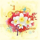 Summer,Tropical Climate,Frangipani,Hawaiian Culture,Flower,Single Flower,Ilustration,Hibiscus,Pattern,Vector,Retro Revival,Floral Pattern,Women,Fun,1940-1980 Retro-Styled Imagery,Exoticism,Grunge,Backgrounds,Design,Swirl,Circle,Butterfly - Insect,Orange Color,Bouquet,Travel,Leaf,Turquoise,Jumping,Red,Sunlight,Blue,Focus On Background,Sunbeam,Illustrations And Vector Art,Yellow,Copy Space,Vector Florals,Vector Ornaments,Vector Backgrounds,Ornate