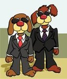 Dog,Hound,Business,Suit,Police Force,Government,Service,Pets,Security System,Sunglasses,MIB,Tax,Secrecy,Business Person,Puppy,Surveillance,Canine,Nas,People,Manager,Mystery,Challenge,Businessman,Illustrations And Vector Art,Dogs,Animals And Pets,Tie,Federal Building,gmen
