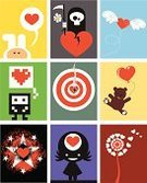 Valentine's Day - Holiday,Video Game,Heart Shape,Dandelion,Doll,Love,Little Girls,Teddy Bear,Wing,Thinking,Grunge,Rabbit - Animal,Sadness,Flying,Toy,Daisy,Smoke - Physical Structure,Death,Star Shape,Illustrations And Vector Art,Bull Eye