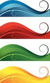 Backgrounds,Banner,Abstract,Curve,Swirl,Striped,Wave,Red,Blue,Vector,Pattern,Multi Colored,Green Color,Backdrop,Wave Pattern,Yellow,Arc,S-shape,Spotted,Halftone Pattern,Horizontal,Curly Howard,Color Image,Modern,Color Gradient,Four Objects,Illuminated,Ilustration,Vibrant Color,Set,Group of Objects,No People,Vector Backgrounds,Vector Ornaments,Decoration,Isolated-Background Objects,Isolated Objects,Style,Clip Art,Illustrations And Vector Art