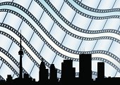 Toronto,Camera Film,Movie,CN Tower,Film Industry,Backgrounds,Canada,Downtown District,Ilustration,Vector,Backdrop,Financial District,Cinema,Travel Backgrounds,Vector Backgrounds,Arts And Entertainment,Travel Locations,Illustrations And Vector Art,35mm
