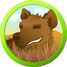 Hyena,Cartoon,Animals In The Wild,Animal,Canine,Dog,Vector,Illustrations And Vector Art,Wild Animals,Vector Cartoons,Animals And Pets,Safari Animals,Smiling,Laughing,Mammal