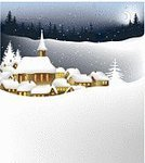 Christmas,Winter,Village,Town,Landscape,Snow,House,Night,Scenics,Backgrounds,Rural Scene,Tree,Vector,Panoramic,Sky,Weather,Ilustration,Star Shape,Hill,Frost,Season,Nature,Christmas,Winter,Landscapes,Holidays And Celebrations