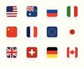 Flag,Symbol,Australian Flag,French Flag,Square Shape,USA,Japanese Flag,British Flag,UK,Russian Flag,Chinese Flag,German Flag,Swiss Flag,American Flag,Canada,France,Australia,China - East Asia,European Union Flag,Germany,Japan,Canadian Flag,Vector,Russia,Italian Flag,Set,Ilustration,Switzerland,Italy,Illustrations And Vector Art,Isolated On White,Isolated Objects,Vector Icons,Reflection