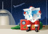 Christmas,Santa Claus,Airplane,Travel,Airport,Suitcase,World Map,Winter,Air Vehicle,Commercial Airplane,Luggage,People Traveling,Bus,House,Vacations,Journey,Snow,Christmas Tree,Symbol,Holiday,City,Label,Vector,Window,Transportation,Leaving,Flying,People,Arrival,Blue,Waiting,Passenger,Mode of Transport,Silhouette,Ilustration,Tourist,Night,Holly,Tourism,Travel Stickers,Land Vehicle,Anticipation