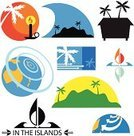 Hut,Island,Beach Hut,Tourist Resort,Mountain,Tropical Climate,Wave,Idyllic,Grass Hut,Vector,Travel,Sun,Sea,Palm Tree,Tsunami,Earth,Icon Set,Tourism,Vacations,Ilustration,Design Element,Journey,Candle,Travel Destinations,Silhouette,Collection,Isolated On White,No People