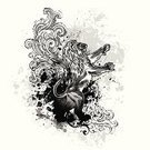 Lion - Feline,Dirty,Grunge,Tattoo,Vector,Drawing - Art Product,Textured Effect,Black Color,Textured,Swirl,Design Element,Scroll Shape,Splattered,Spray,Part Of,Wild Animals,Illustrations And Vector Art,Drop,graphic elements,Animals And Pets