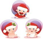 Baby,Christmas,Diaper,Vector,Babies Only,Ilustration,Cute,Cheerful,Diaper Pin,Hat,Holiday,Pacifier,Santa Hat,12-18 Months,6-12 Months,People,Christmas,Holidays And Celebrations,Berry,Small,Holly,Illustrations And Vector Art