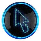 Symbol,Cursor,Computer Icon,Circle,Isolated,Blue,Pixelated,Interface Icons,Illuminated,Design,Light - Natural Phenomenon,Glowing,Single Object,Computer Graphic,Isolated Objects,Style,Glass - Material,Technology,Isolated On White,Vibrant Color,Luminosity,Digitally Generated Image,Arrow Symbol,Isolated-Background Objects,No People,Orthographic Symbol,render,Vector Icons,Illustrations And Vector Art,Reflection,Electronics