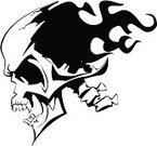 Human Skull,Tattoo,Flame,Pirate,Burning,Evil,Black Color,Computer Graphic,Vector,White,Death,Shape,Isolated,Symbol,Horror,Shock,Dead Person,Isolated On White,Arts And Entertainment,Halloween,Isolated Objects,Ilustration,Isolated-Background Objects,Human Bone,People,Arts Abstract