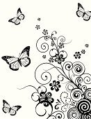 Butterfly - Insect,Black Color,Flower,White,Single Flower,Floral Pattern,Frame,Swirl,Print,Pattern,Backgrounds,Scroll,Vector,Design,Leaf,Springtime,Scroll Shape,Retro Revival,Scroll,Textile,Abstract,Drawing - Art Product,Winter,Drawing - Activity,Computer Graphic,Design Element,Nature,Clip Art,Season,Flowing,Art,Ilustration,Spiral,Image,Digitally Generated Image,Inspiration,Plant,Shape,Creativity,Wallpaper Pattern,Holiday,Illustration And Panting,graphic element,Vector Ornaments,Greeting,Illustrations And Vector Art,Vector Backgrounds
