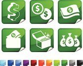 Dollar Sign,Dollar,Symbol,Treasure,Treasure Chest,Currency,Computer Icon,Bank Account,Green Color,Stack,Icon Set,Finance,Wallet,Vector,Blue,Money Bag,Ilustration,Three-dimensional Shape,Trunk,Shiny,Label,Wealth,Savings,Folded,Square,Business,Square Shape,Orange Color,Black Color,Design,Red,Page Curl