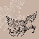 Pegasus,Horse,Engraved Image,Woodcut,Wing,Vector,Old-fashioned,Clip Art,Ilustration,Drawing - Activity,Mane,Vector Ornaments,Mammals,Concepts And Ideas,Animals And Pets,Illustrations And Vector Art