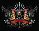 Sparta,Warrior,Gladiator,Shield,Greek Culture,Work Helmet,Sword,Wing,Vector,Suit of Armor,Human Muscle,Spear,Roman Centurion,Two People,Men,Banner,Symbol,Weapon,Insignia,Design,Conflict,Gemini - Astrology,Coat Of Arms,Red,Italian Culture,Ilustration,Black Color,Security Guard,Protection,Power,People,Suit,Honor Guard,Strength,Ornate,Metal,Computer Graphic,History,Courage,Design Element,Lance,Heavy,Shape,Cultures,Majestic,Placard,Image,Backgrounds