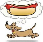 Hot Dog,Dog,Dachshund,Cartoon,Sausage,Running,Puppy,Dreamlike,Food,Fast Food,Long,Pets,Animal,Vector Cartoons,Junk Food/Fast Food,Dogs,Animals And Pets,Cute,Food And Drink,Illustrations And Vector Art