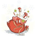 Sack,Gift,Christmas,Gift Box,Bag,Cartoon,Cake,Group of Objects,Toy,Holiday,Candy,Souvenir,Red,Ilustration,Celebration,Spruce Tree,Illustrations And Vector Art,Design Element,Confetti,Vector,Decoration,Christmas,Snow,Season,Cheerful,Spotted,Happiness,Cultures,White,Winter,Spray,Design,Surprise,Fantasy,Holidays And Celebrations,Holiday Symbols,Box - Container,Backgrounds,Abundance,Greeting