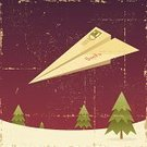 Christmas,Santa Claus,Old-fashioned,Postage Stamp,Paper Airplane,Letter,Mail,Grunge,Flying,Tree,Holiday,Old,Distressed,Snow,Vector,Ilustration,Air Mail,Christmas,Nature,Vector Cartoons,Illustrations And Vector Art,Damaged,Holidays And Celebrations,Snowing,Letter To Santa,Winter