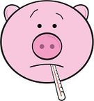 Pig,Illness,Swine Influenza Virus,Thermometer,Emergency Room,Russian Influenza,Fever,Headache,Contagion,Sore Throat,Spanish Flu,Terrified,Fear,Cute,Sulking,Grimacing,Pouting,Beauty And Health,Despair,Flu Virus,Healthy Lifestyle,Frowning,Sadness,Concepts And Ideas,Illustrations And Vector Art,Medicine,Influenza A Virus,Human Parainfluenza Virus,Vector Cartoons,Facial Expression,Epidemic,Cold And Flu