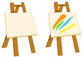 Easel,Painting,Artist,Symbol,Art,Artist's Canvas,Art and Craft Equipment,Paintings,Clip Art,Drawing - Art Product,Paint,Oil Painting,Fine Art Painting,Vector,Drawing - Activity,Objects/Equipment,Art And Craft,Illustrations And Vector Art,Acrylic Painting,Ilustration,Hobbies,Art Product,No People,Wood - Material,Creativity,Oil And Acrylic,Recreational Pursuit,Concepts And Ideas,Painter,Blank,blank canvas,Painted Image