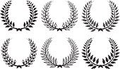 Laurel Wreath,Pennant,Clip Art,Symbol,Set,Computer Icon,Vector,Vector Florals,Vector Ornaments,Vector Icons,Illustrations And Vector Art,Collection,Leaf,Decoration,Design Element