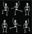 Human Skeleton,Dancing,Halloween,Human Bone,Human Skull,Smiling,Party - Social Event,Pattern,Vector,Black Color,Human Face,Backgrounds,White,Grid,Traditional Festival,Spooky,Horror,Decoration,Indulgence,Magic Trick,Celebration,Holidays And Celebrations,Human Teeth,Halloween,Holiday Symbols,Night,Fear,Vector Backgrounds,Human Mouth,Holiday,Season,October,Illustrations And Vector Art,Wallpaper Pattern