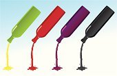 Pouring,Wine,Liquid,Bottle,Cooking Oil,Wine Bottle,Soda,Alcohol,Red,Drink,Red Wine,Glass - Material,Purple,Black Color,Green Color
