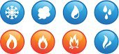 Water,Heat - Temperature,Fire - Natural Phenomenon,Condensation,Computer Icon,Drop,Flame,Cold - Termperature,Smoke - Physical Structure,Protection,Sign,Steam,Blue,Snowflake,Orange Color,Silhouette,Vector,Danger,White,Ilustration,Warning Sign,Snow,Frost,Liquid