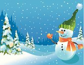 Snowman,Snowing,Christmas Tree,Holiday,Christmas,Winter,Tree,Christmas Lights,Mitten,Scarf,Snow,Spruce Tree,Coniferous Tree,Nature,Holidays And Celebrations,Winter,Holiday Backgrounds,Christmas,Frost,Carrot,Frozen,Pine Tree,Cap,Hat,Cold - Termperature