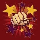 Punching,Fist,Power,Violence,Vector,Human Hand,Aggression,Thumb,Ilustration,Power,Vector Icons,Illustrations And Vector Art,Concepts And Ideas,Human Finger,Star Shape