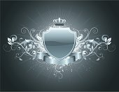 Crown,Coat Of Arms,Nobility,Shield,Insignia,Shiny,Flower,Vector,Backgrounds,Banner,Majestic,heraldic,Frame,Symbol,Retro Revival,Decoration,Fashion,Medieval,Black Color,Swirl,Abstract,Grunge,Pattern,Design,Old-fashioned,Scroll Shape,Ribbon,Scroll,Classic,Luxury,Design Element,Art,Antique,Silhouette,Leaf,Ilustration,Computer Graphic,Blank,blazonry,Shape,Style,Concepts,Concepts And Ideas,Illustrations And Vector Art,Bush,Arts And Entertainment,History,Part Of