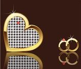 Ring,Wedding,Heart Shape,Gold Colored,Love,Valentine's Day - Holiday,Celebration,Vector,Valentine's Day,Weddings,Holidays And Celebrations,Illustrations And Vector Art