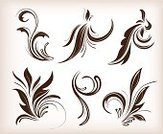 Growth,Flores,Plant,Antique,Flower,Computer Graphic,Victorian Style,Vignette,Ornate,Decoration,Design Element,Ilustration,Silhouette,Botany,Baroque Style,Deco,Nature,Swirl,Vector,Branch,Bush,Leaf,Set,Curve,Painted Image,Collection,Curled Up,Vector Florals,Image,Classical Style,Old-fashioned,Illustrations And Vector Art
